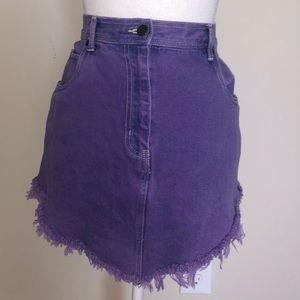Vintage Bill Blass Purple Denim Jean Skirt